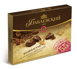 Набор конфет UGANDA Темный шоколад/дробленый кешью 170г