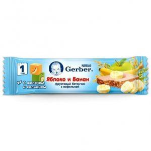 ДП Батончик GERBER DoReMi Яблоко/банан/фруктовый 25г