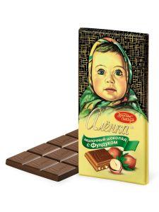 Шоколад АЛЕНКА с фундуком молочный Красный октябрь 200г