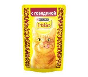 Корм для кошек FRISKIES Говядина в подливе 85г
