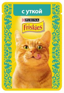 Корм для кошек FRISKIES Утка в подливе 85г