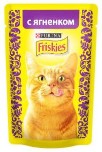 Корм для кошек FRISKIES Ягненок в подливе 85г