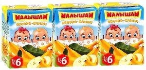 ДП Нектар МАЛЫШАМ Яблоко/банан неосветленный с 5 мес т/п 125г