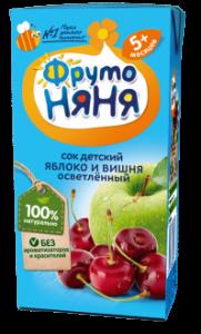 ДП Нектар ФРУТОНЯНЯ Яблоко/вишня осветленный с 5 мес 200г