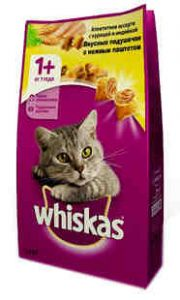 Корм для кошек WHISKAS подушечки с паштетом курица/индейка 800г