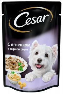 Корм для собак CESAR ягненок в сырном соусе 100г