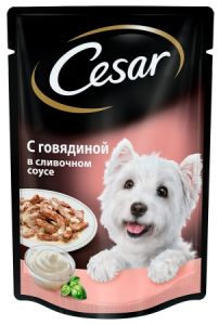 Корм для собак Cesar говядина в сливочном соусе 100г