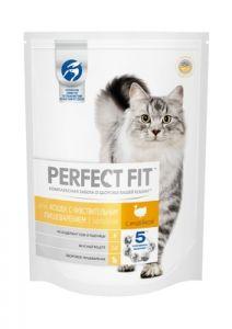 Корм для кошек PERFECT FIT с индейкой 650г .