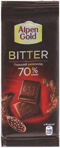 Шоколад ALPEN GOLD Bitter 70% какао 85г