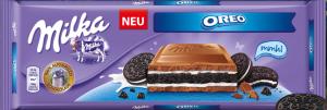 Шоколад MILKA OREO молочный с ванильной начинкой 300г