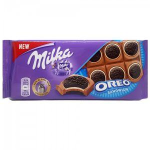 Шоколад MILKA OREO молочный с ванильной начинкой 92г