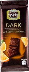 Шоколад ALPEN GOLD Темный с апельсиновыми кусочками 85г