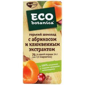 Шоколад ECO BOTANICA Абрикос/клюквенный экстракт горький 85г