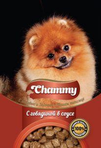Корм для собак CHAMMY Пауч говядина в соусе 85г