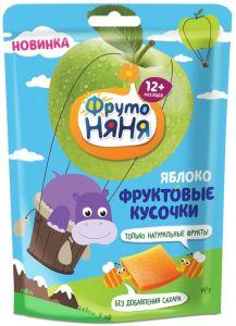 ДП Фруктовые кусочки ФРУТОНЯНЯ Яблоко/персик без сахара с 12мес м/у 56г