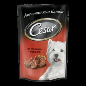 Корм для собак CESAR Говядина с овощами 100г