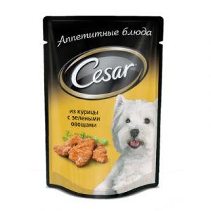Корм для мелких собак CESAR Курица с зеленью овощами 100г