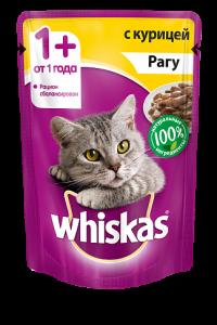 Корм для кошек WHISKAS рагу Курица 85г