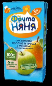 ДП Сок ФРУТОНЯНЯ Яблоко/груша с мякотью б/с 200мл