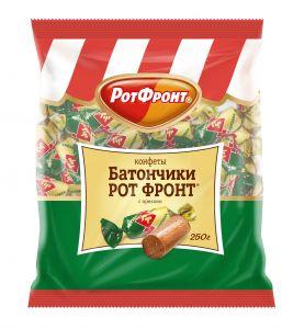 Конфеты БАТОНЧИК с орехом Рот Фронт 250г