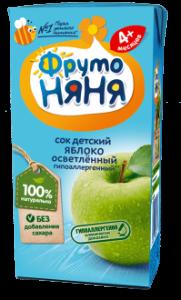 ДП Сок ФРУТОНЯНЯ Яблоко осветленный 200мл