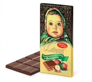 Шоколад АЛЕНКА фундук/изюм молочный Рот Фронт 100г