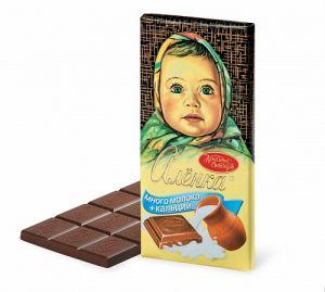 Шоколад АЛЕНКА много молока молочный Красный октябрь 100г