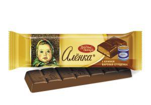 Шоколад АЛЕНКА с начинкой вареная сгущенка молочный Красный октябрь 48г