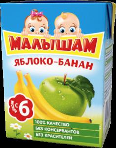 ДП Нектар ФРУТОНЯНЯ Малышам Яблоко/банан неосветленный 200г