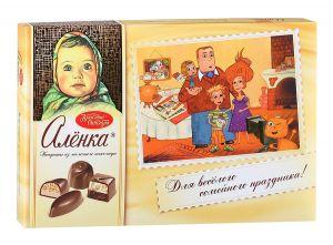 Набор конфет АЛЕНКА молоко/шоколад Красный октябрь 185г