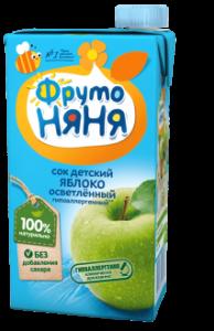 ДП Сок ФРУТОНЯНЯ Яблоко осветленный без с 500мл