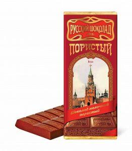 Шоколад РУССКИЙ ШОКОЛАД Пористый молочный 90г