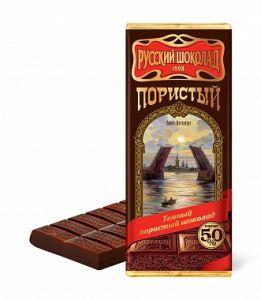 Шоколад РУССКИЙ ШОКОЛАД Пористый темный 90г