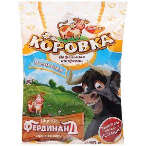 Конфеты вафельные КОРОВКА Молочная Рот Фронт 250г