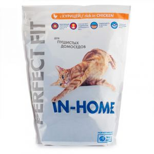 Корм для кошек PERFECT FIT In home Курица 650г