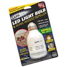 Лампочка - отпугиватель насекомых Zapplight LED Light Bulb & Sonic Rodent Repeller
