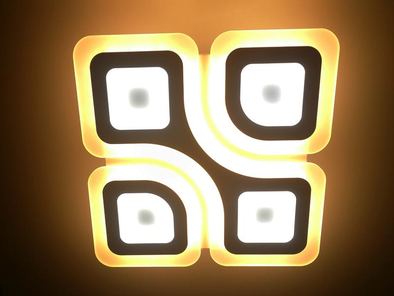 Светильник светодиодный управляемый Estares Geometria Quadrate 85w белый с пультом ДУ