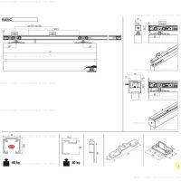 Комплект фурнитуры Krona Koblenz 0400-80 на 1 дверь до 80 кг.