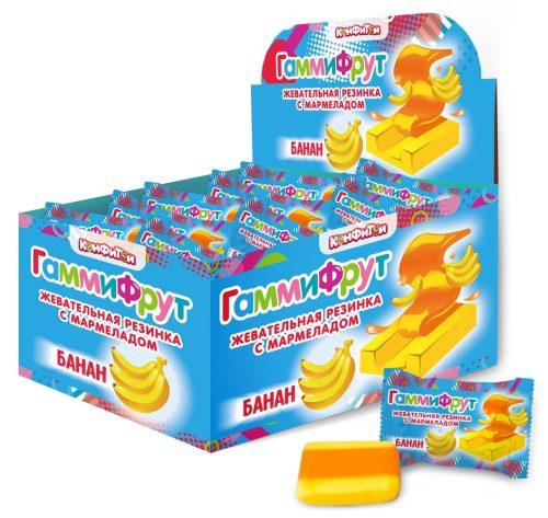 ГАММИ ФРУТ жевательная резинка с мармеладом со вкусом банана