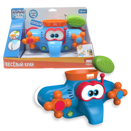 1toy Kidz Delight Игрушка для ванны Весёлый Кран, 30*12,5*20см, кор.