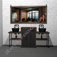 """Комплект мебели для ванной с двумя раковинами """"Лофт-2"""