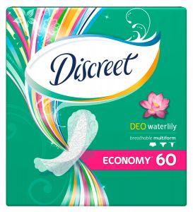Прокладки ежедневные DISCREET Deo Water Lily Multiform Trio 60шт