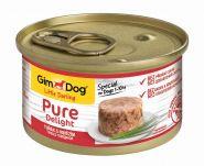 GimDog Pure Delight консервы для собак из тунца с говядиной 85 г