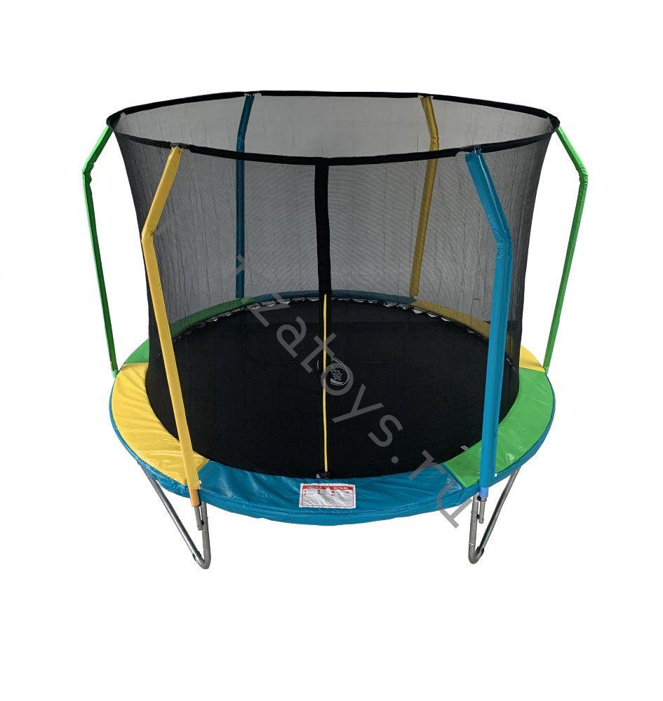 Батут уличный SportElite FLY фиберглас с защитной сеткой (внутрь)