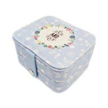Компактная шкатулка для ювелирных изделий, Цвет: Голубой, Орнамент: And