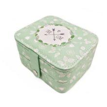 Компактная шкатулка для ювелирных изделий, Цвет: Зелёный, Орнамент: True Love