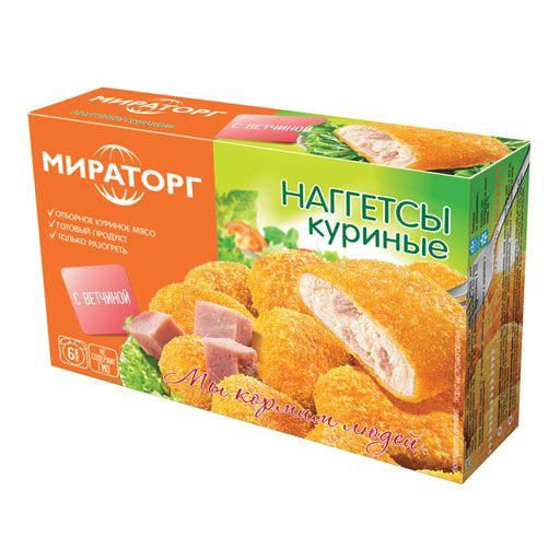 Наггетсы куриные МИРАТОРГ с ветчиной, 300г