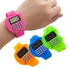 Детские электронные наручные часы с калькулятором Яблоко