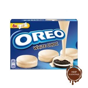 Печенье OREO Какао/ваниль в белой глазури НГ 246г