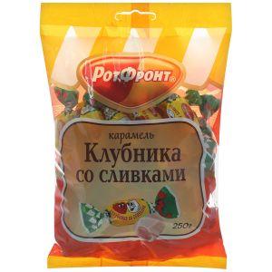 Карамель КЛУБНИКА со СЛИВКАМИ Бабаевская 250г